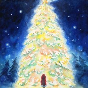 流れ星のクリスマスツリー The Shooting star on christmas tree