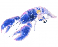 青いザリガニ Blue crayfish