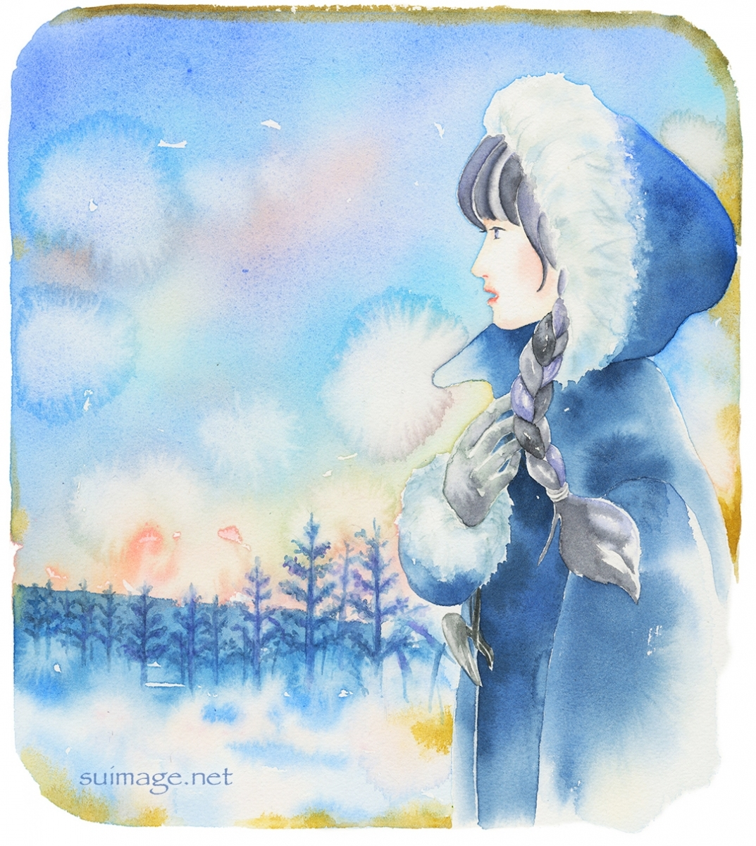 冬の朝 The winter morning
