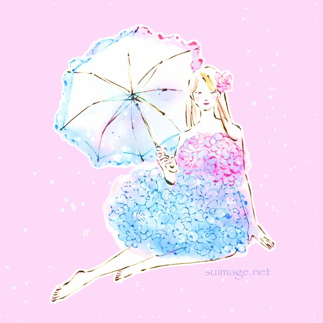 紫陽花のドレス
