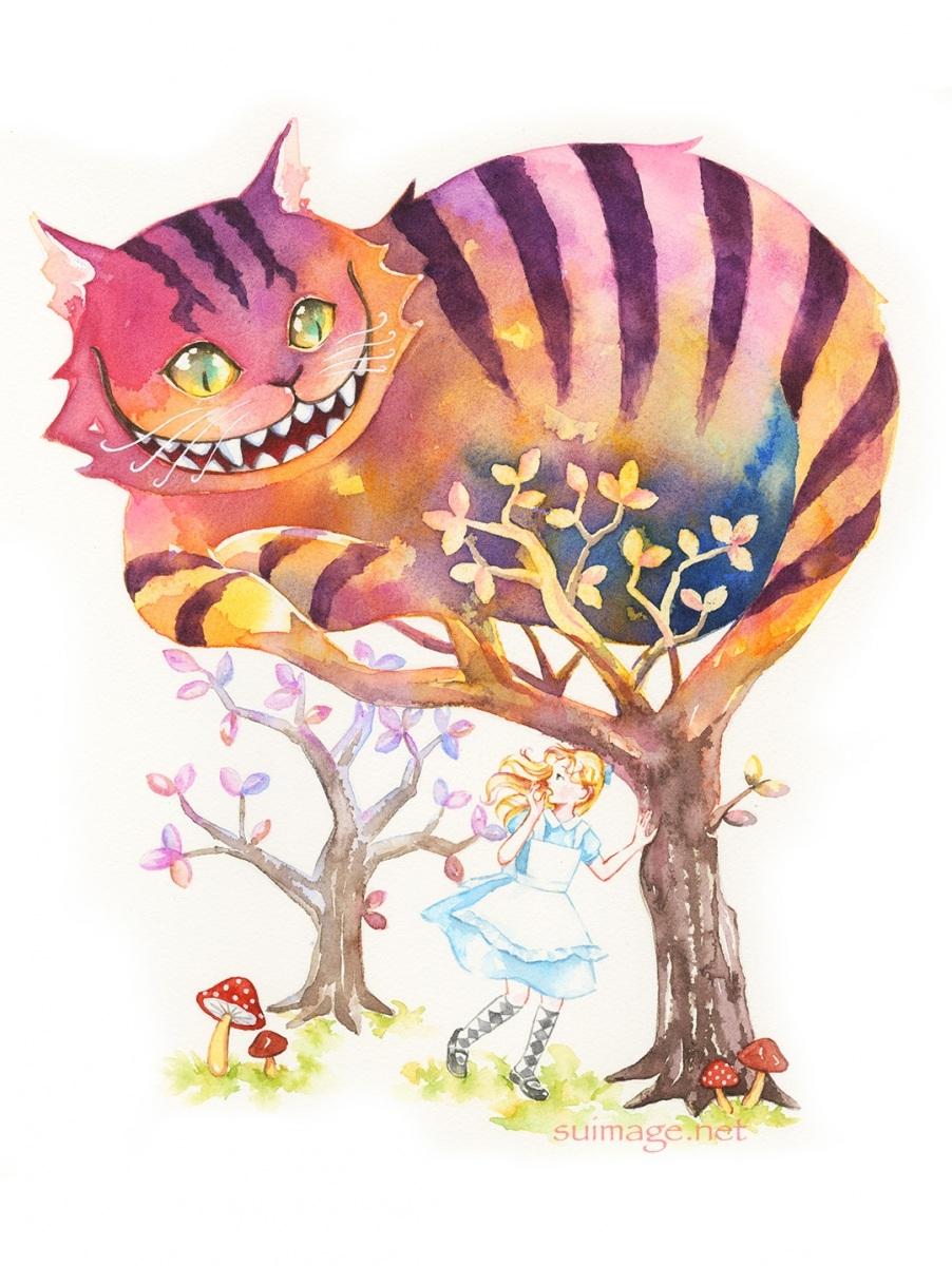 笑うチェシャ猫