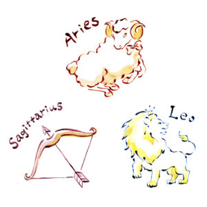 星占い,horoscope,女性誌,雑誌,牡羊座,獅子座,しし座,射手座,aries,leo,sagittarius