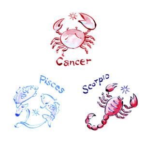 星占い,horoscope,女性誌,雑誌,かに座,蠍座,さそり座,魚座,cancer,scorpio,pisces