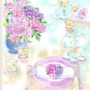 結婚式,食事,コース料理,フランス料理