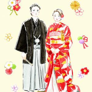 和装,袴,打掛,鶴,椿,和小物,結婚式イメージ,結婚情報誌,結婚式カット